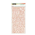 Studio Calico - Countryside Collection - Cardstock Stickers - Alphabet - Pink