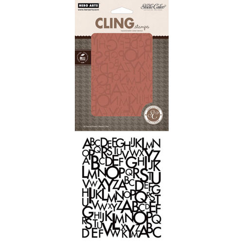 Hero Arts - Studio Calico - Autumn Press Collection - Clings - Repositionable Rubber Stamps - Alphabet Pattern