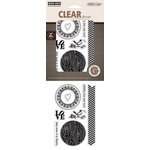 Hero Arts - Studio Calico - Memoir Collection - Poly Clear - Clear Acrylic Stamps - My Happy