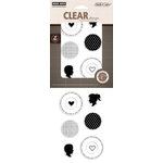 Hero Arts - Studio Calico - Autumn Press Collection - Poly Clear - Clear Acrylic Stamps - Silhouettes