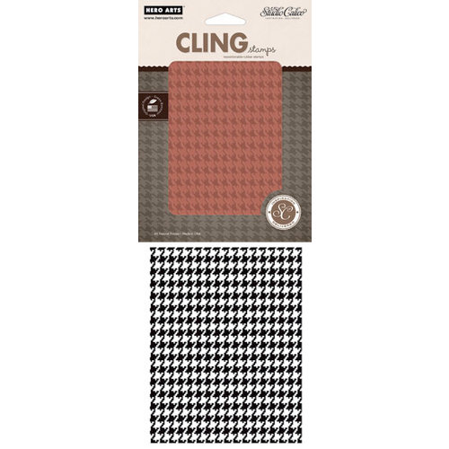 Hero Arts - Studio Calico - Memoir Collection - Clings - Repositionable Rubber Stamps - Houndstooth Background