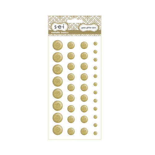 SEI - Metallic Basics - Self Adhesive Glitter Dots - Gold
