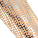 SEI - 12 x 12 Craft Paper with Foil Accents - Silver Houndstooth