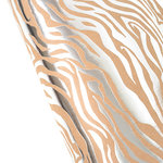 SEI - 12 x 12 Craft Paper with Foil Accents - Silver Zebra