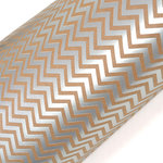 SEI - 12 x 12 Craft Paper with Foil Accents - Silver Chevron