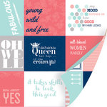 SEI - Forever Sassy Collection - 12 x 12 Double Sided Perforated Sheet - Cheeky Snippets