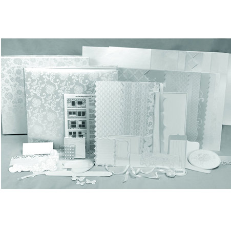 SEI - Scrapbook in a Box Kit - 12 x 12 - White Elegance