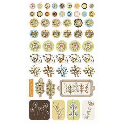 SEI - Dill Blossom Collection - Epoxy Essentials Stickers, CLEARANCE