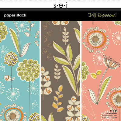 SEI - Dill Blossom Collection - Paper Stack - 8x8, CLEARANCE