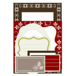 SEI - Alpine Frost Collection - Christmas - Coaster Frames and Tags, CLEARANCE