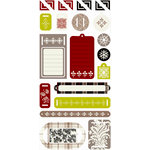 SEI - Alpine Frost Collection - Christmas - Coaster Element Tags, CLEARANCE