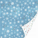 SEI - Glitzmas Collection - 12x12 Double Sided Textured Glittered Paper - Christmas - Frosty the Snowflake
