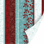 SEI - Winter Song Collection - 12 x 12 Double Sided Flocked Paper - Sweet Holly , CLEARANCE