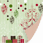SEI - Christmas Mint Collection - 12 x 12 Double Sided Varnish Paper - Christmas Mint , CLEARANCE