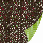 SEI - Christmas Mint Collection - 12 x 12 Double Sided Varnish Paper - Nonparelis , CLEARANCE