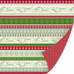 SEI - Christmas Mint Collection - 12 x 12 Double Sided Foil Paper - Ribbon Candy, CLEARANCE
