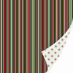 SEI - Christmas Mint Collection - 12 x 12 Double Sided Foil Paper - Peppermint Bark , CLEARANCE
