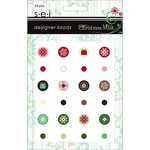 SEI - Christmas Mint Collection - Designer Brads, CLEARANCE