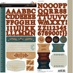 SEI - Moravia Collection - Cardstock Stickers with Foil Accents