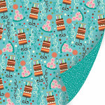 SEI - Happy Day Collection - 12 x 12 Double Sided Glitter Paper - Cake Walk, CLEARANCE