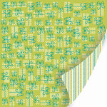 SEI - Happy Day Collection - 12 x 12 Double Sided Glitter Paper - Gift Wrap, CLEARANCE