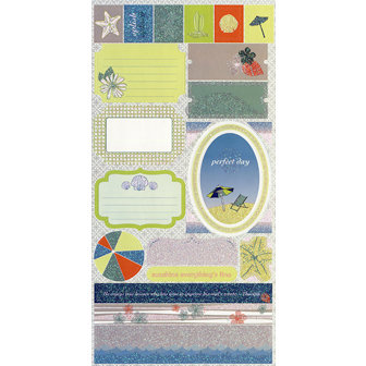 SEI - Beach Collection - Cardstock Stickers with Glitter Accents
