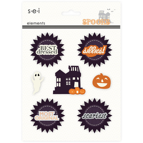 SEI - Spooks Collection - Halloween - 3 Dimensional Cardstock Stickers - Elements