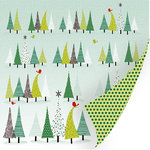 SEI - Kris Kringle Collection - Christmas - 12 x 12 Double Sided Silver Glitter Paper - Magical Forest, CLEARANCE