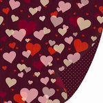 SEI - With All My Heart Collection - Valentine - 12 x 12 Double Sided Glitter Paper - Hearts a Flutter