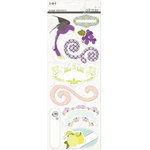 SEI - Couture Collection - Page Elements - Foil Cardstock Stickers with Pearl Accents