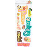 SEI - Jocelyn Collection - 3 Dimensional Cardstock Stickers with Glitter and Jewel Accents - Titles