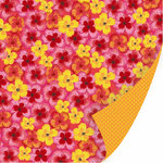 SEI - Sunny Day Collection - 12 x 12 Double Sided Glitter Paper - Sundress