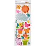 SEI - Sunny Day Collection - Page Elements - Cardstock Stickers with Gem Accents