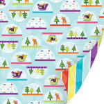 SEI - Holiday Cheer Collection - Christmas - 12 x 12 Double Sided Glitter Paper - Shake It Up
