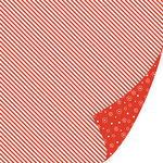 SEI - Holiday Cheer Collection - Christmas - 12 x 12 Double Sided Foil Paper - Candy Cane