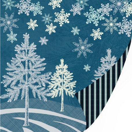 SEI - Silver Valley Collection - Christmas - 12 x 12 Double Sided Glitter Paper - Silver Valley