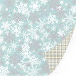 SEI - Silver Valley Collection - Christmas - 12 x 12 Double Sided Foil Paper - Forecast