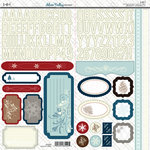 SEI - Silver Valley Collection - Christmas - Cardstock Stickers with Foil Accents
