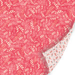 SEI - Vanilla Sunshine Collection - 12 x 12 Double Sided Pearl Foil Paper - Strawberry Whimsy
