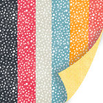 SEI - Vanilla Sunshine Collection - 12 x 12 Double Sided Pearl Foil Paper - Honey Bubbles