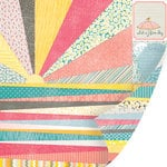 SEI - Vanilla Sunshine Collection - 12 x 12 Double Sided Perforated Sheet - Rays of Sunshine