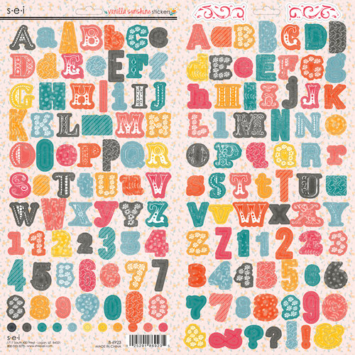 SEI - Vanilla Sunshine Collection - Cardstock Stickers - Alphabet