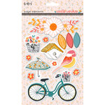 SEI - Vanilla Sunshine Collection - 3 Dimensional Cardstock Stickers - Elements