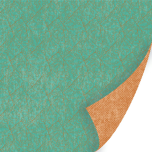 SEI - Desert Springs Collection - 12 x 12 Double Sided Copper Foil Paper - Nankoweap