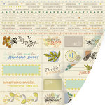SEI - Desert Springs Collection - 12 x 12 Double Sided Perforated Sheet - Inscription