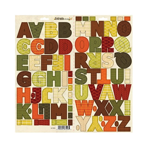 SEI - Entrada Collection - Cardstock Stickers - Alphabet