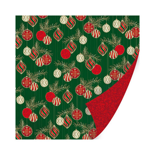 SEI - Holiday Traditions Collection - Christmas - 12 x 12 Double Sided Paper with Foil Accents - Trimming the Tree