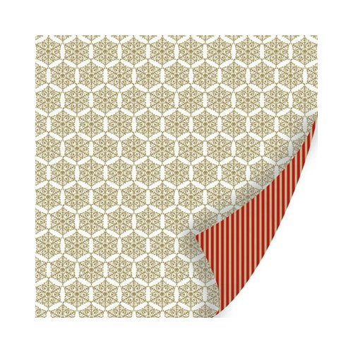 SEI - Holiday Traditions Collection - Christmas - 12 x 12 Double Sided Paper with Foil Accents - Holiday Greetings