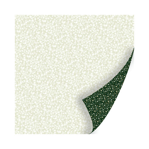 SEI - Holiday Traditions Collection - Christmas - 12 x 12 Double Sided Paper with Glitter Accents - Crystal Icing