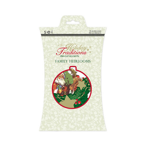 SEI - Holiday Traditions Collection - Christmas - Die Cut Glitter Accents